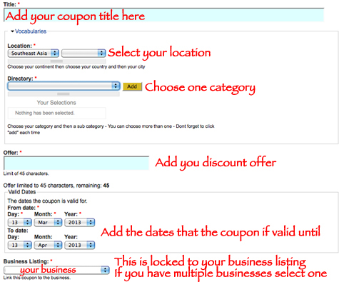 How to add coupons