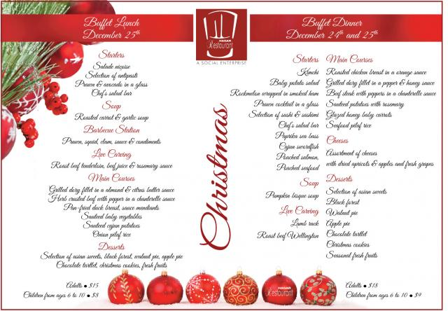 Christmas Buffet in Hagar Restaurant | Expat Advisory Services